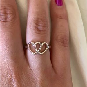 Lia Sophia Double hearts ring